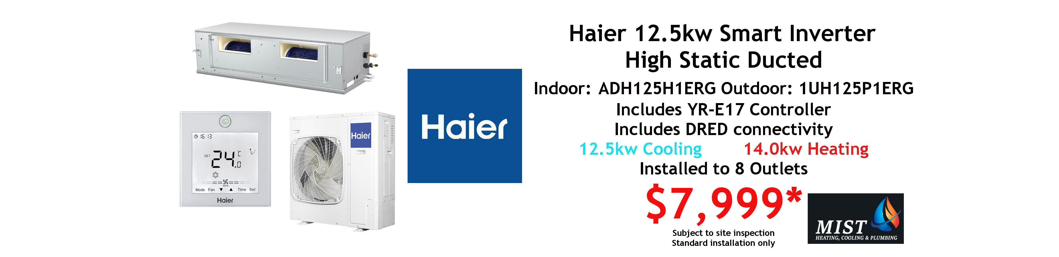 haier 12.5kw ducted special