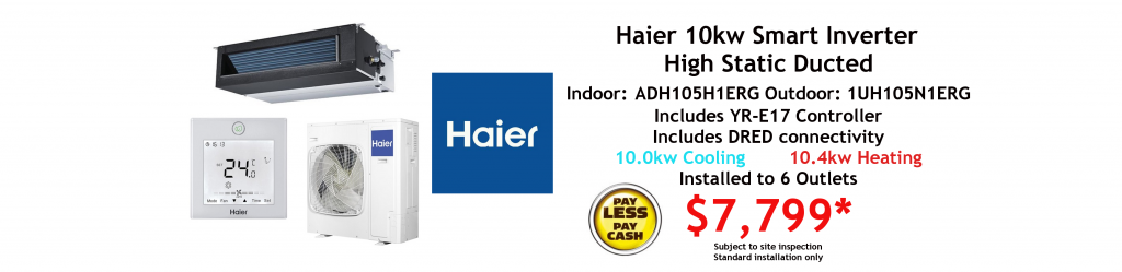 haier ducted 10kwkw